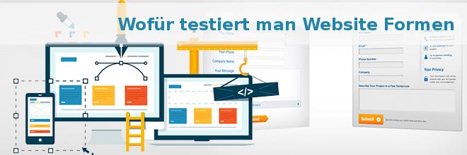 Wofür testiert man Website Formen